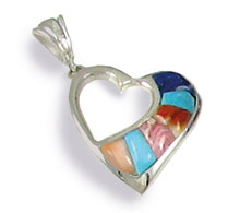 Small Inlaid Heart Pendant